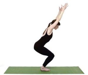правилно изпълнение на йога поза стол
